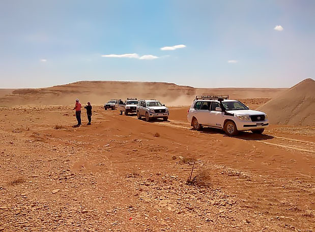 SEPTEMBER 27, 2018: a joint scouting of the nefzaoua exploration permit area (TUNISIA)